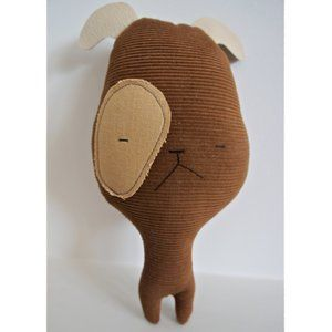 H Luv Handmade Cotton Leather Dog Plush Doll Toy